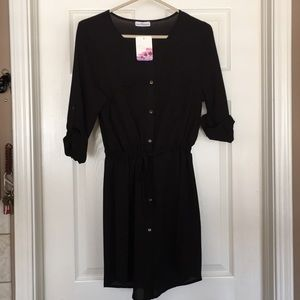 NWT! Large black drawstring dress